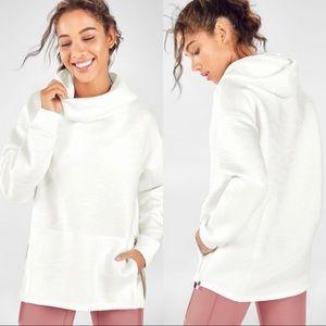 Fabletics Lotta Cocoon II Pullover White Camo